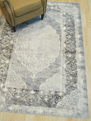 Distressed Bohemian Moderno Medallion Rug