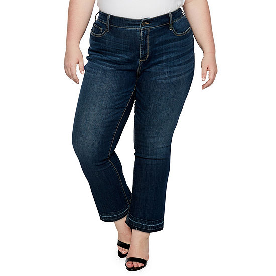 9d71395d31e a.n.a Raw-Edge Cropped Flare Jeans - Plus - JCPenney