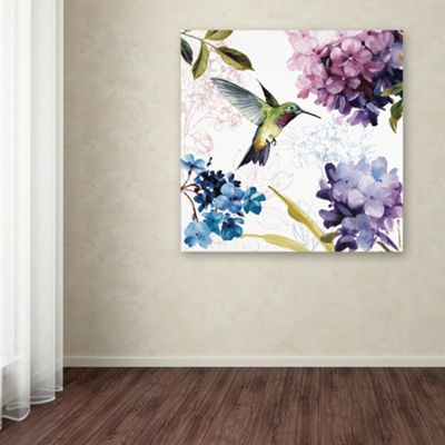 Trademark Fine Art Lisa Audit Spring Nectar SquareII Giclee Canvas Art