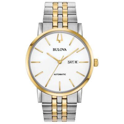 Bulova Mens Two Tone Bracelet Watch-98c130