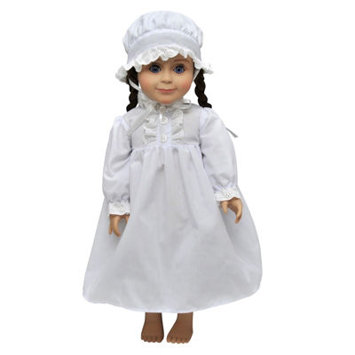 The Queen's Treasures 18 Inch Doll Little House 2-pc. Nightgown & Cap