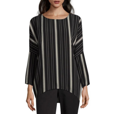 Alyx Long Sleeve Round Neck Woven Blouse