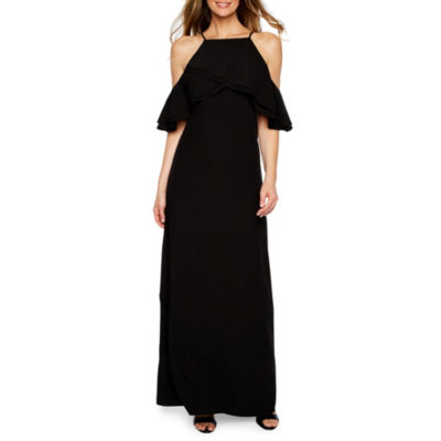 Blu Sage Sleeveless Cold Shoulder Evening Gown