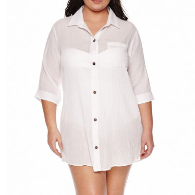a.n.a Crepe Swimsuit Cover-Up Dress-Plus