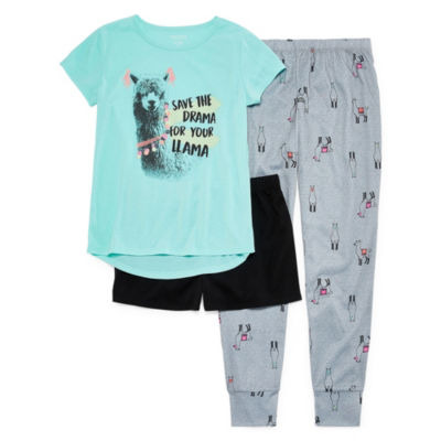 Arizona Llama Drama 3pc Pajama Set - Girls