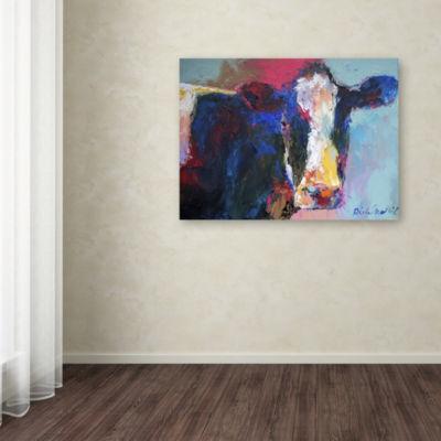 Trademark Fine Art Richard Wallich Art B Cow Giclee Canvas Art