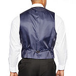 Shaquille O'Neal XLG Black Mens Stretch Regular Fit Suit Vest - Big and Tall
