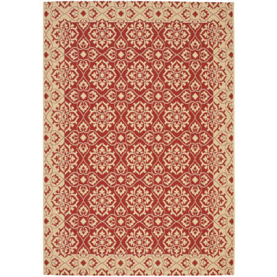 Safavieh Courtyard Collection Spots Oriental Indoor/Outdoor Area Rug