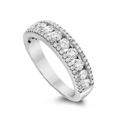 Womens 1/3 CT. T.W. Genuine White Diamond 14K White Gold Anniversary Band