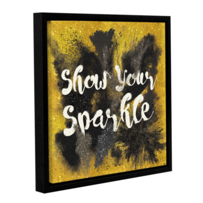 Glitter and Gold II on Gold Floater-Framed GalleryWrapped Canvas