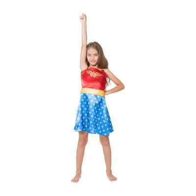 Sleeveless Wonder Woman Nightgown-Big Kid Girls