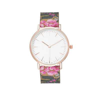 Geneva Platinum Womens Pink Strap Watch-10143