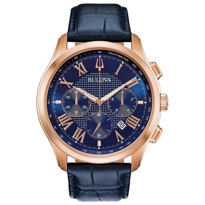 Bulova Mens Blue Strap Watch-97b170