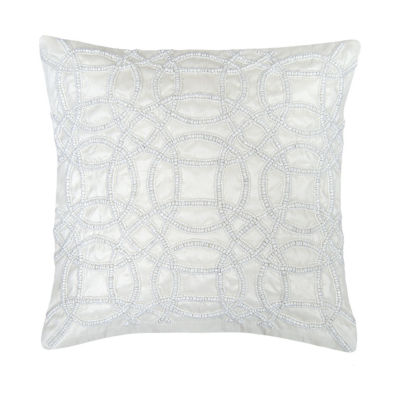 Swirl Fiesta Beaded Square Throw Pillow