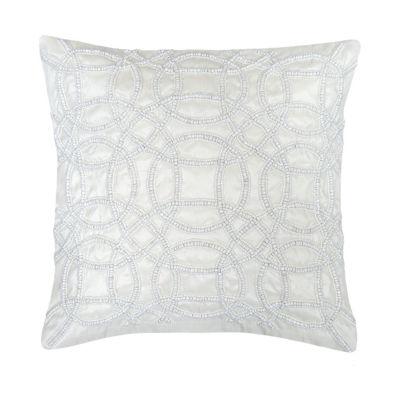 Swirl Fiesta Beaded Square Throw Pillow