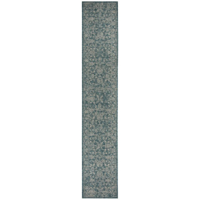 Safavieh Courtyard Collection Clarissa Oriental Indoor/Outdoor Runner Rug