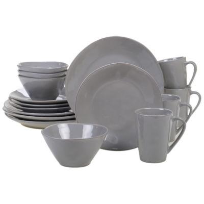 Certified International Harmony Grey 16-pc. Dinnerware Set