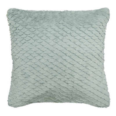 Leslie Fur Square Throw Pillow