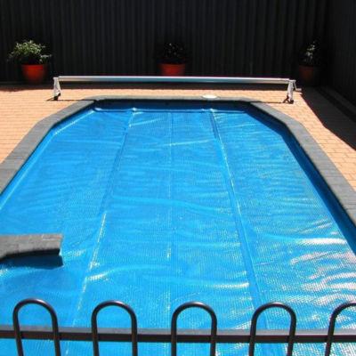 12' x 24' Rectangular Heat Wave Solar Blanket Swimming Pool Cover - Blue