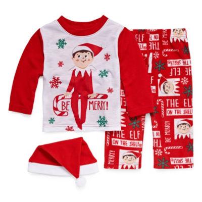 Elf On The Shelf 3 Piece Pajama -Baby Unisex