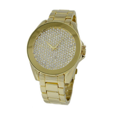 Geneva Platinum Womens Gold Tone Bracelet Watch-1520