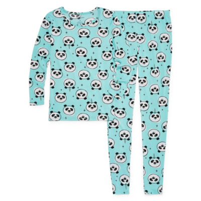 Arizona Tight Fit Panda Print  2-pc Pajama Set -  Girls
