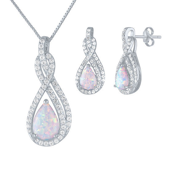 2-pc. Lab-Created Opal Sterling Silver Jewelry Set