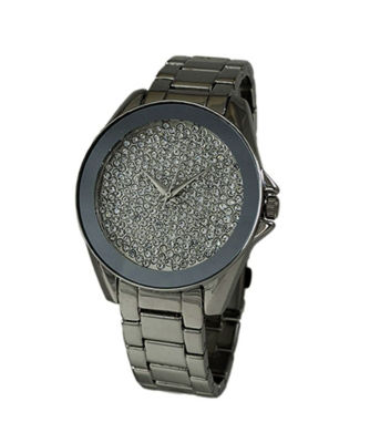 Geneva Platinum Womens Gray Bracelet Watch-1520