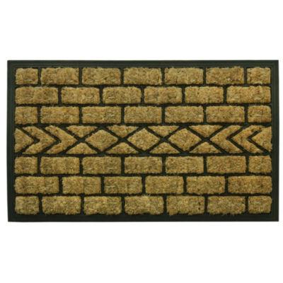 Bacova Guild Molded Boot Brush Rectangular Doormat