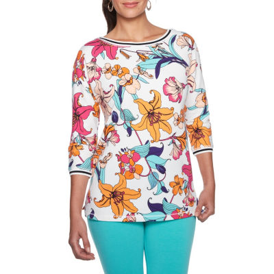 Lark Lane Tropical Twist Tunic Top