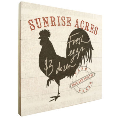 Farm Linen Rooster Black