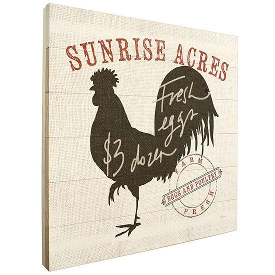 Farm Linen Rooster Black