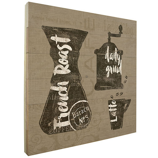 Wooden Coffee Wall Sign