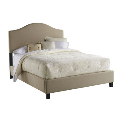Saddle Back Upholstered Queen Bed