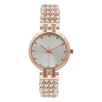Geneva Platinum Womens Rose Goldtone Bracelet Watch-15181