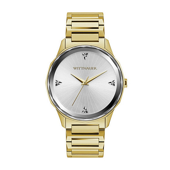 Wittnauer Mens Gold Tone Bracelet Watch-Wn3094