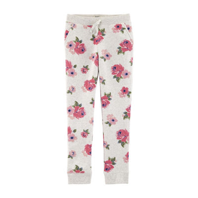 Oshkosh Girls Mid Rise Straight Pull-On Pants - Preschool