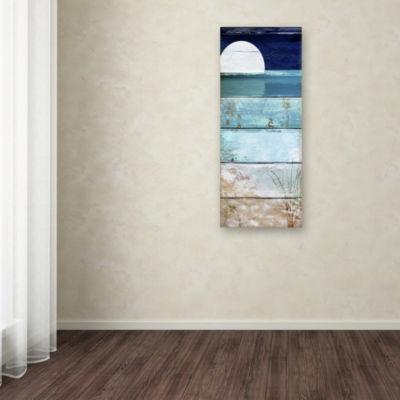 Trademark Fine Art Color Bakery Beach Moonrise I Giclee Canvas Art