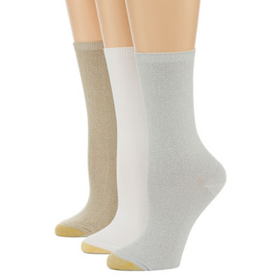 Gold Toe 3 Pair Crew Socks - Womens