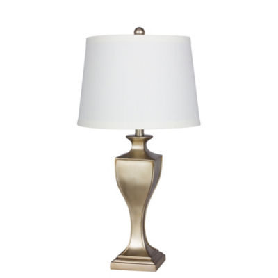 """Fangio Lighting's #6214 29"""" Resin Table Lamp in Champagne Gold"""