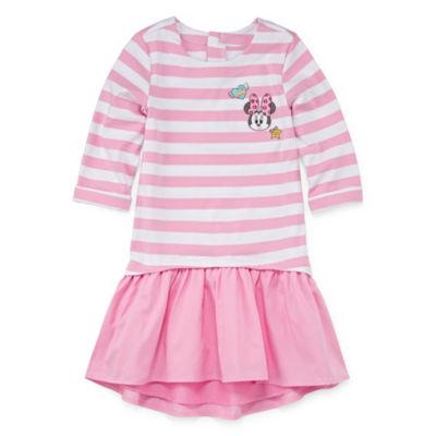 Disney Short Sleeve Mickey Mouse Skater Dress - Preschool Girls