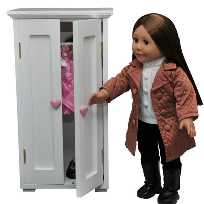 The Queen's Treasures White Wardrobe Closet for 18Inch Dolls