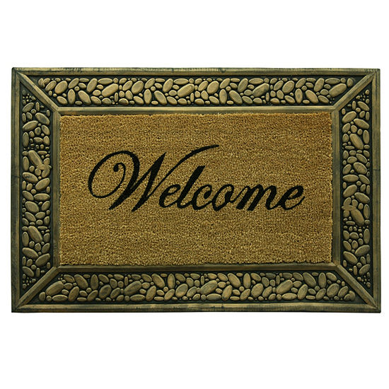 Bacova Guild Pebble Welcome Rectangular Outdoor Doormat