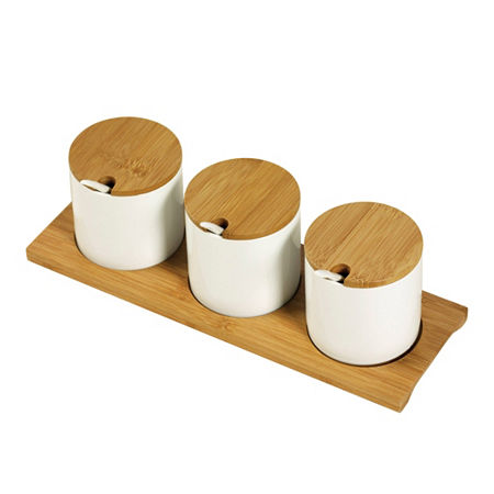 Denmark Tools For Cooks 10-pc. Porcelain Condiment Jar, One Size , White