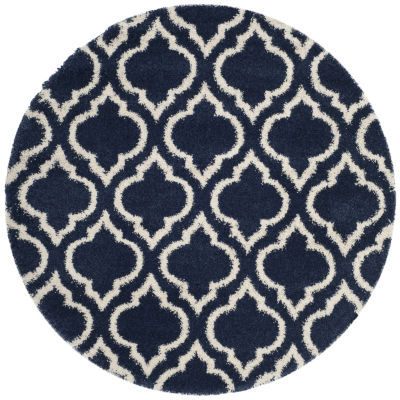 Safavieh Hudson Shag Collection Toireasa Geometric Round Area Rug