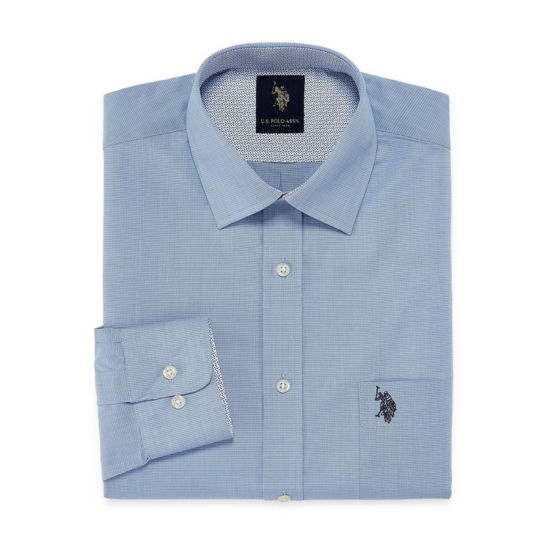 U.S. Polo Assn. Uspa Dress Shirt Long Sleeve Yarn Dyed Woven Dress Shirt