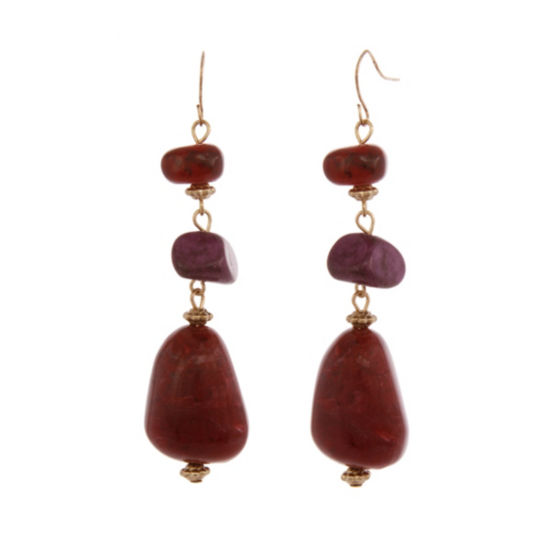 EL by Erica Lyons 6/25 El Plum Drop Earrings