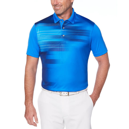 PGA TOUR Easy Care Short Sleeve Tonal Polo Shirt