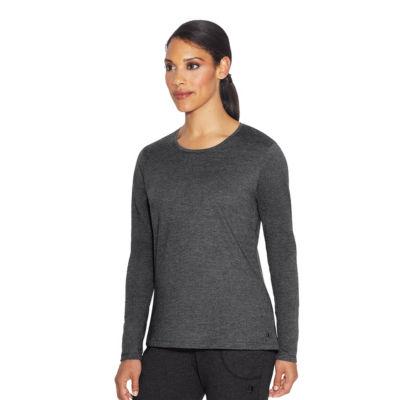 Champion Jersey Tee Long Sleeve Round Neck T-Shirt-Womens