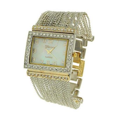 Geneva Platinum Womens Two Tone Bracelet Watch-9239